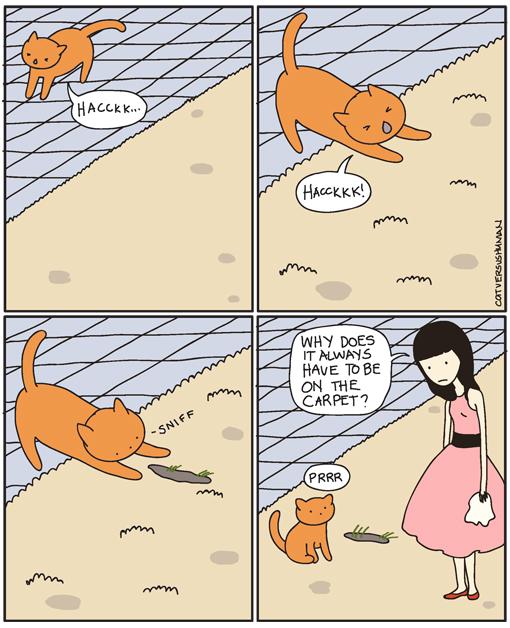 Cat Versus Human Mageninhalt Vs Boden Ein Comic Leben