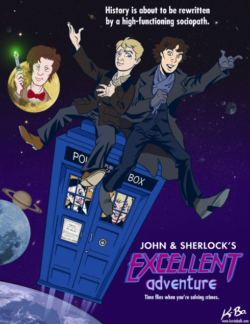 John and Sherlock's Excellent Adventure by *kevinbolk